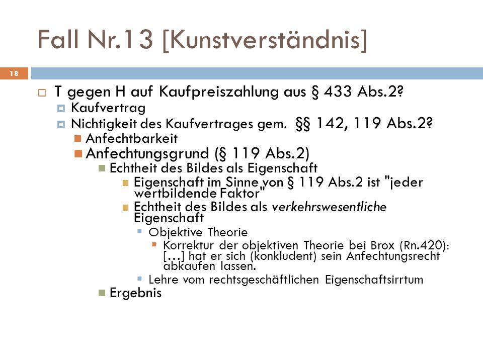 Fall Nr.13 [Kunstverständnis]